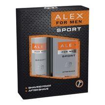 Alex For Men ajándékcsomag (After shave-borotvahab) Sport (6db/#)