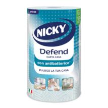Nicky Defend papírtörlő 80lap 3rtg. Antibakteriális (12db/krt)