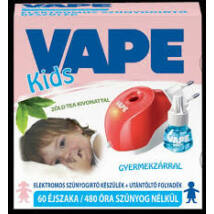 Vape elektromos Szúnyogriasztó folyadékos készülék 60db-os Kids zöld tea (12db/#)