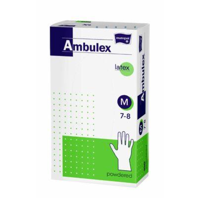 Bella Ambulex latex kesztyű 100db-os M (10db/#)