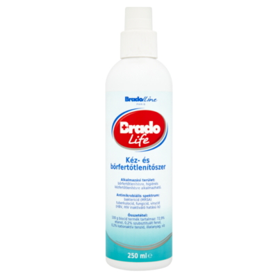 Bradolife kéz-és bőrfertőtlenítőszer 250ml pumpás (10db/krt)
