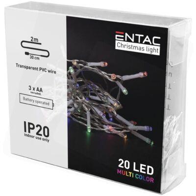 Entac karácsonyi beltéri füzér 20LED 2m színes (30db/#)