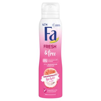 Fa dezodor 150ml Fresh&Free Graphefruit&Lychee (6db/krt)