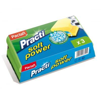 Paclan Practi soft power szivacs 3db-os (24db/#)