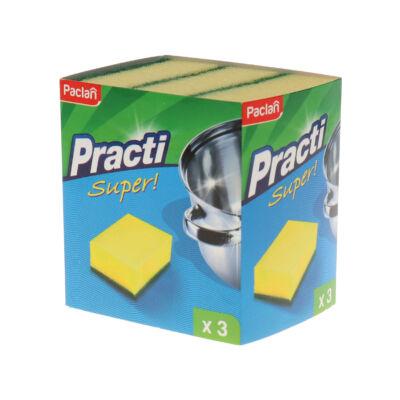 Paclan Practi super szivacs dörzsivel 3db-os (40db/#)