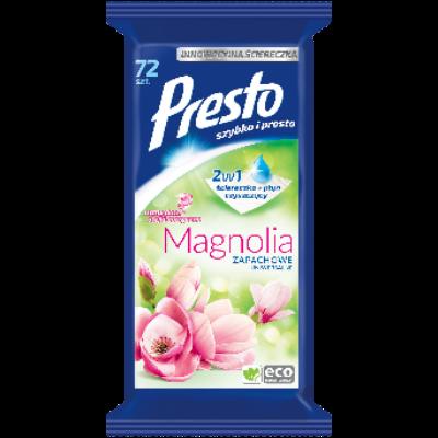 Presto törlőkendő 72db-os univerzális magnólia illattal (12db/krt)