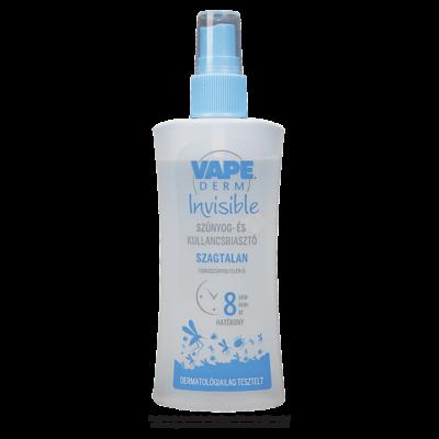 Vape Derm Invisible szúnyog és kullancsriasztó 100ml pumpás (12db/krt)