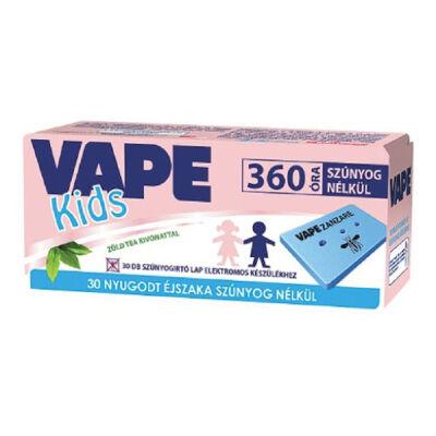 Vape elektromos Szúnyogriasztó lapkás út. 30db-os Kids Zöld tea (36db/#)