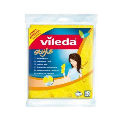Vileda Style háztartási törlőkendő 3 db-s (20db/krt)